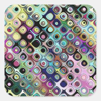 Adesivo Quadrado Teste padrão abstrato colorido