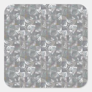 Adesivo Quadrado Teste padrão Azul-Cinzento do azulejo da