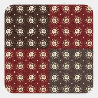 Adesivo Quadrado Teste padrão decorativo