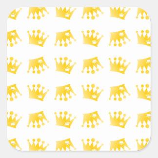 Adesivo Quadrado Teste padrão dobro da coroa
