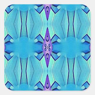 Adesivo Quadrado Teste padrão feminino do Lilac azul Azure bonito