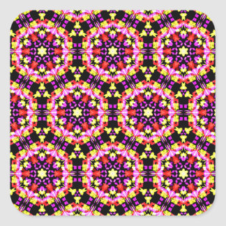 Adesivo Quadrado Teste padrão floral minúsculo