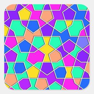 Adesivo Quadrado teste padrão geométrico islâmico