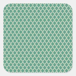 Adesivo Quadrado Teste padrão geométrico verde