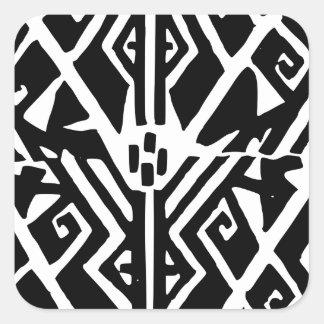 Adesivo Quadrado Teste padrão grego