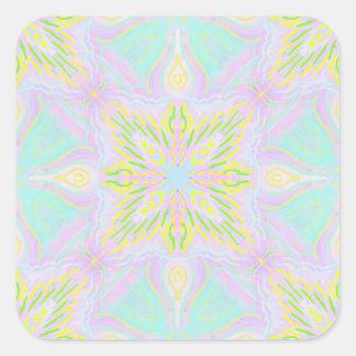 Adesivo Quadrado Teste padrão macio Pastel de Seamsless do azulejo