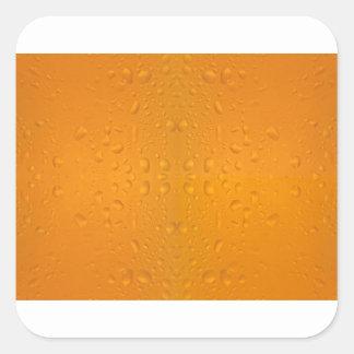 Adesivo Quadrado Teste padrão macro 8868 do vidro de cerveja