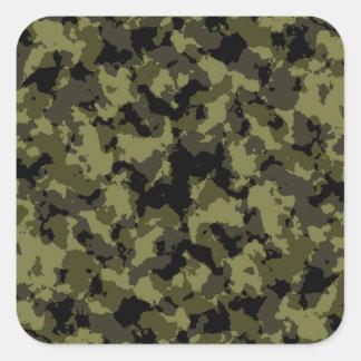 Adesivo Quadrado Teste padrão militar do estilo da camuflagem