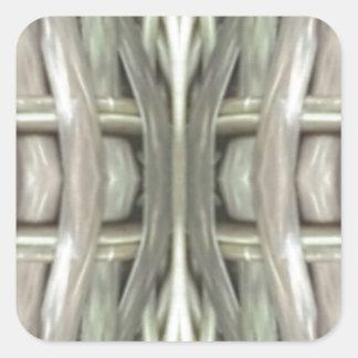Adesivo Quadrado Teste padrão tonificado cinzas do Weave de Nuetral