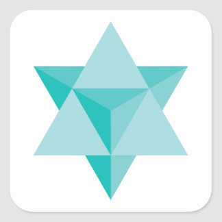 Adesivo Quadrado Tetraedro da estrela de Merkaba