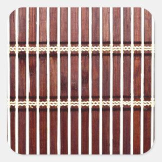 Adesivo Quadrado textura de bambu da esteira