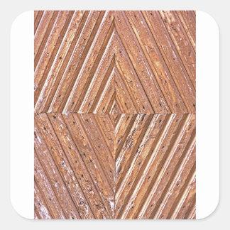 Adesivo Quadrado Textura de madeira