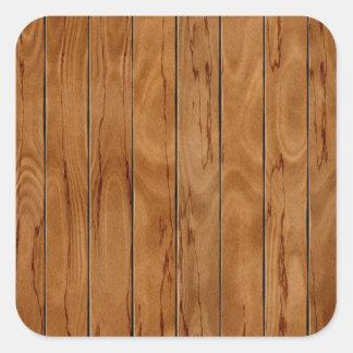 Adesivo Quadrado Textura de madeira do assoalho do marrom escuro