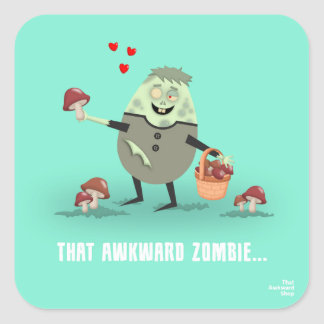Adesivo Quadrado That Awkward Zombie