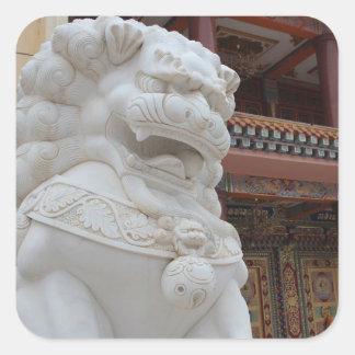 Adesivo Quadrado Tibetano Snowlion de Amdo