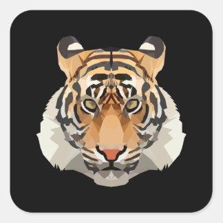 Adesivo Quadrado Tigre o rei