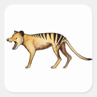 Adesivo Quadrado Tigre tasmaniano, Thylacine