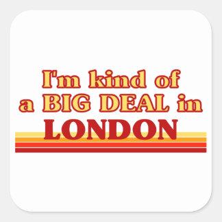 Adesivo Quadrado Tipo de I´m de uma grande coisa em Londres