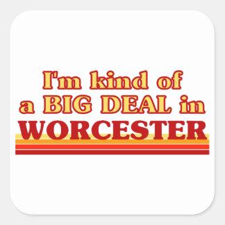 Adesivo Quadrado Tipo de I´m de uma grande coisa em Worcester