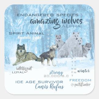 Adesivo Quadrado Tipografia surpreendente | dos lobos personalizado