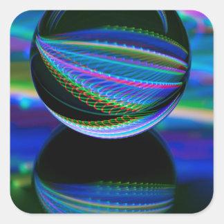 Adesivo Quadrado Todas as cores na bola de cristal