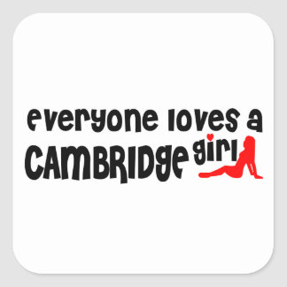 Adesivo Quadrado Todos ama uma menina de Cambridge