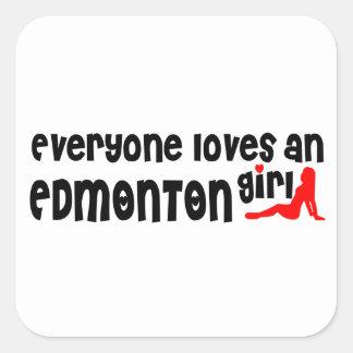 Adesivo Quadrado Todos ama uma menina de Edmonton