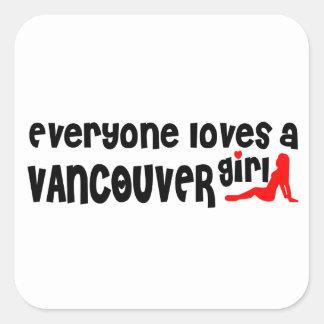 Adesivo Quadrado Todos ama uma menina de Vancôver