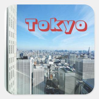 Adesivo Quadrado Tokyo, Japão