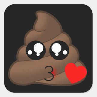 Adesivo Quadrado Tombadilho Emoji do amor do coração