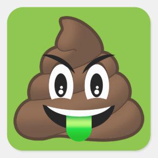 Adesivo Quadrado Tombadilho louco Emoji da língua verde