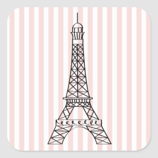 Adesivo Quadrado Torre Eiffel