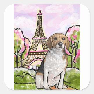 Adesivo Quadrado torre Eiffel Paris do lebreiro
