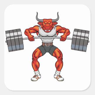 Adesivo Quadrado touro 2 do levantamento de peso