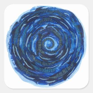 Adesivo Quadrado trabalhos de arte #2 de Chakra do olho 6th-Third