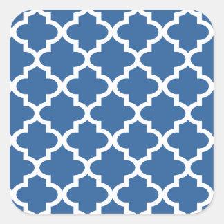 Adesivo Quadrado Treliça marroquina do azulejo dos azuis cobaltos