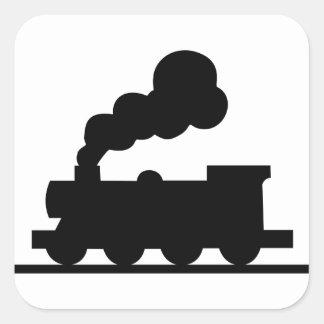 Adesivo Quadrado Trem de estrada de ferro
