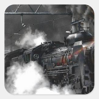 Adesivo Quadrado Trem do vapor
