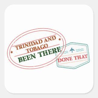 Adesivo Quadrado Trinidad and Tobago feito lá isso