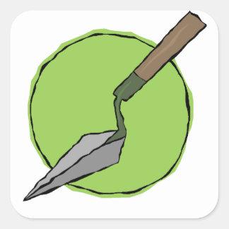 Adesivo Quadrado Trowel verde - o conjunto de ferramentas do