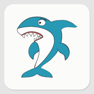 Adesivo Quadrado Tubarão