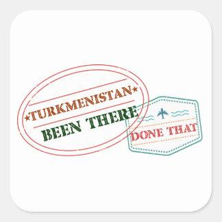 Adesivo Quadrado Turkmenistan feito lá isso