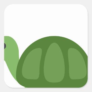 Adesivo Quadrado Turtle Emoji