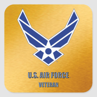 Adesivo Quadrado U.S. Força aérea aposentada