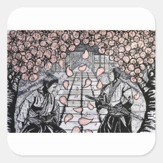 Adesivo Quadrado Um desenhar por Carter L. Shepard