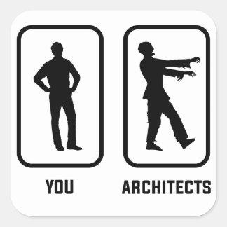 Adesivo Quadrado Um Normal você contra um zombi do arquiteto