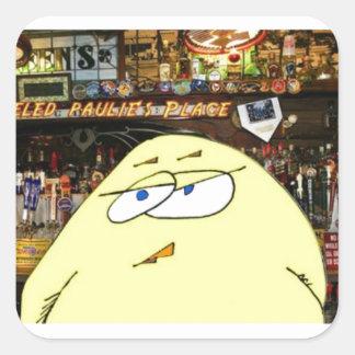 Adesivo Quadrado Um ovo pickeled trabalha no bar dos paulie
