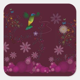 Adesivo Quadrado Um pintor do colibri