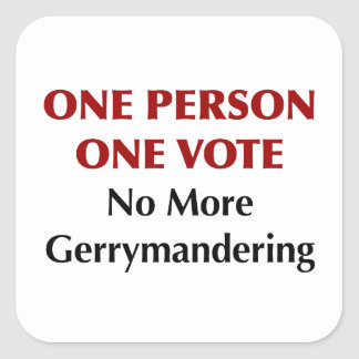 Adesivo Quadrado Um voto da pessoa uma, Gerrymandering