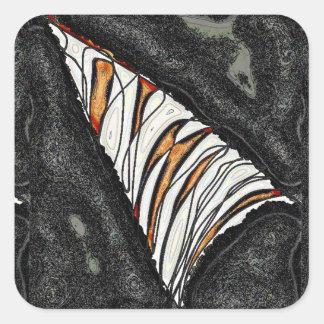Adesivo Quadrado Uma fatia de laranja